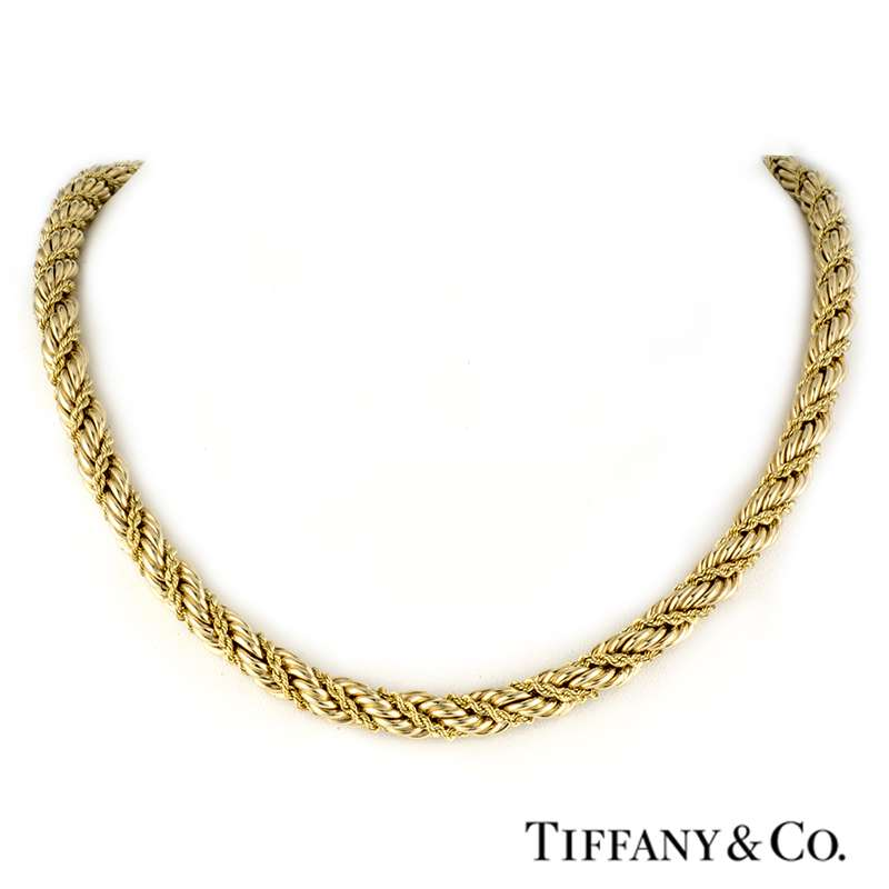 Tiffany & Co 14k Yellow Gold Rope Necklace